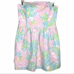 Lilly Pulitzer Lottie lace strapless dress size 14